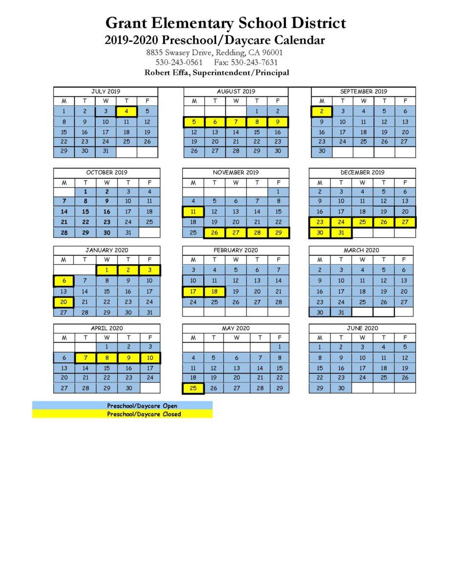 2019-20 Calendars