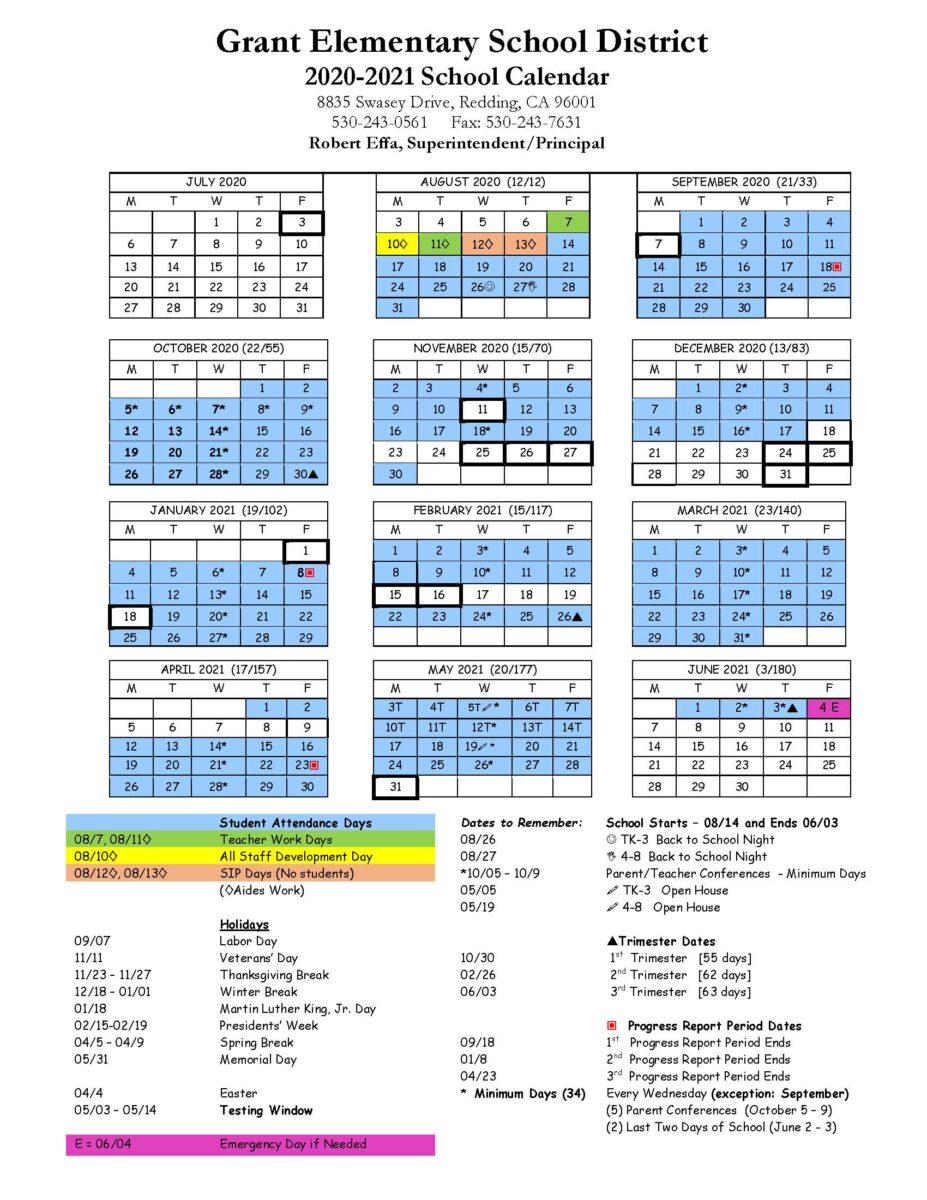 2015-16 Calendars